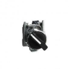 Przełącznik zatablicowy, dwupołożeniowy, z metalową maskownicą Schneider Electric Czarny XB4BD21