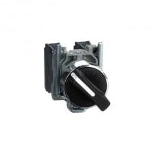 Przełącznik zatablicowy, dwupołożeniowy, z metalową maskownicą Schneider Electric Czarny XB4BD25