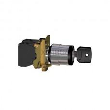 Przełącznik kluczykowy zatablicowy, 2-pozycyjny z metalową maskownicą Schneider Electric Czarny XB4BG61