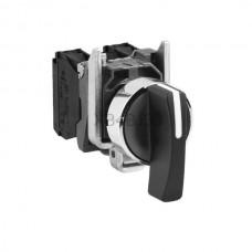 Przełącznik z długim piórkiem, zatablicowy, 3-położeniowy z metalową maskownicą Schneider Electric Czarny XB4BJ33