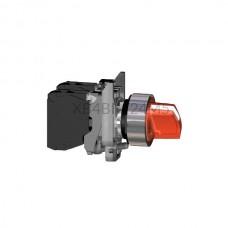 Przełącznik zatablicowy, podświetlany, 2-położeniowy z metalową maskownicą Schneider Electric Czerwony XB4BK124M5