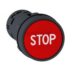 Przycisk pulpitowy czerwony Harmony XB7 XB7NA4534 styki NO+NC Schneider Electric