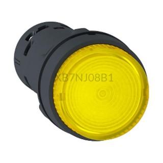 Przycisk z podświeteniem żółty NO 24 V AC/DC XB7NJ08B1 Schneider Electric