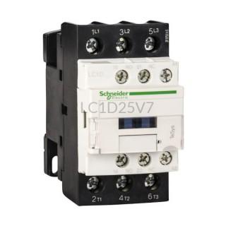 Stycznik 11 kW 3 styki zwierne 400VAC Schneider Electric LC1D25V7