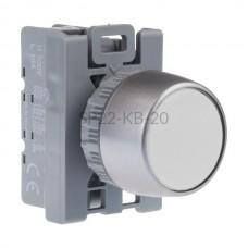 Przycisk pulpitowy biały SP22-KB-20 2 NO Spamel